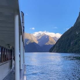 Sunrise at Milford Sound, Fiordland New Zealand