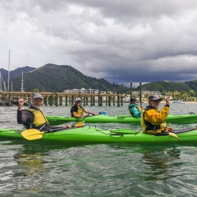 Kayak tour at Marlborough Sounds, New Zealand