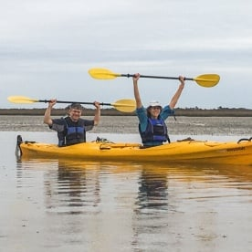 Kayaking at Okarito Lagoon, West Coast New Zealand
