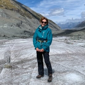 Guest at Tasman Glacier, Canterbury New Zealand