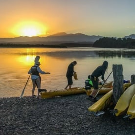 Sunrise on Okarito Lagoon, West Coast New Zealand