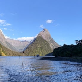 Mitre Peak at Milford Sound, Fiordland New Zealand