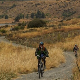 Biking tour at Lake Tekapo, Canterbury New Zealand