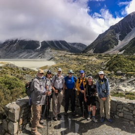 Group at Aoraki Mt Cook, Canterbury New Zealand