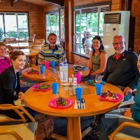 Dinner at Te Anau, Fiordland New Zealand