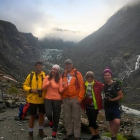 The team checking out Fox Glacier