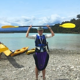 Getting Ready for Kayaking at Okarito Lagoon