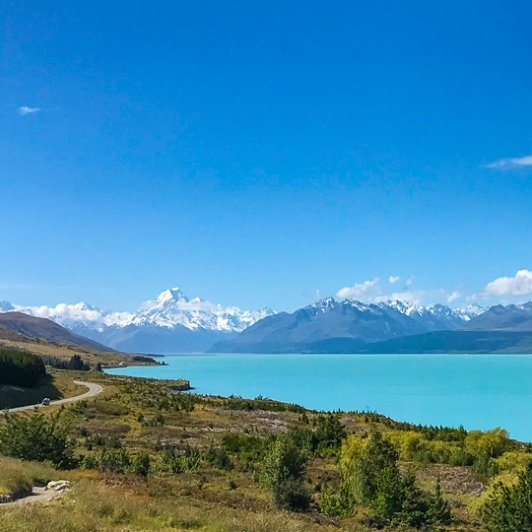 Shores of Lake Pukaki and Mount Cook