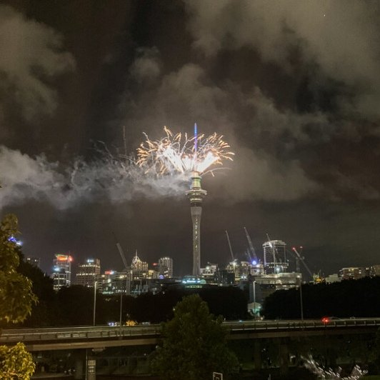 Fireworks at Auckland's Skytower, New Zealand