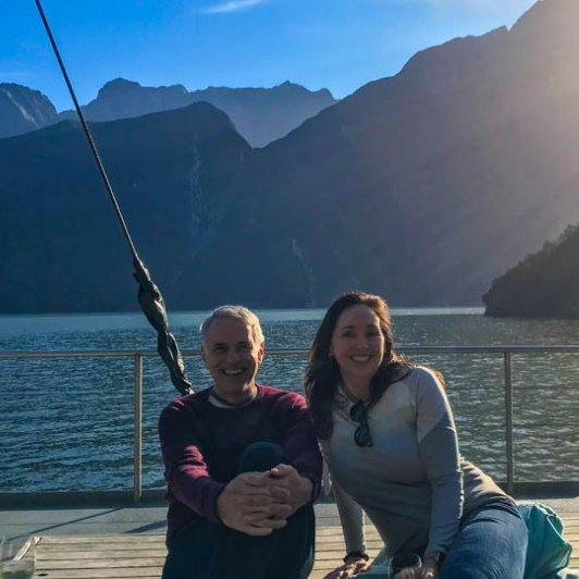 Couple on Milford Sound cruise