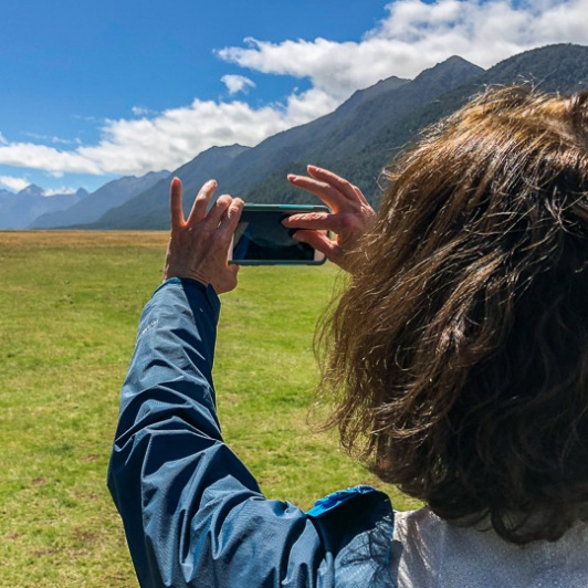 Photographing the Eglinton Valley, Fiordland National Park Southland New Zealand