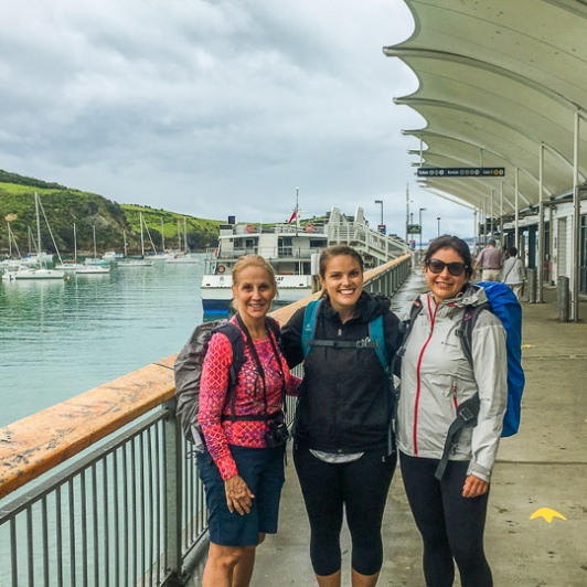 Ladies at Waiheke Island Harbour, Auckland New Zealand
