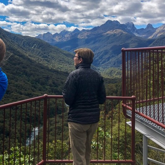 Pops view lookout, Fiordland New Zealand