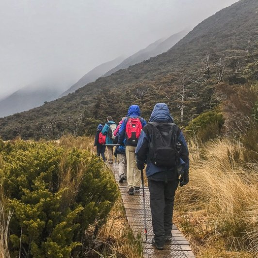 Walking at Arthurs Pass National Park, Canterbury New Zealand