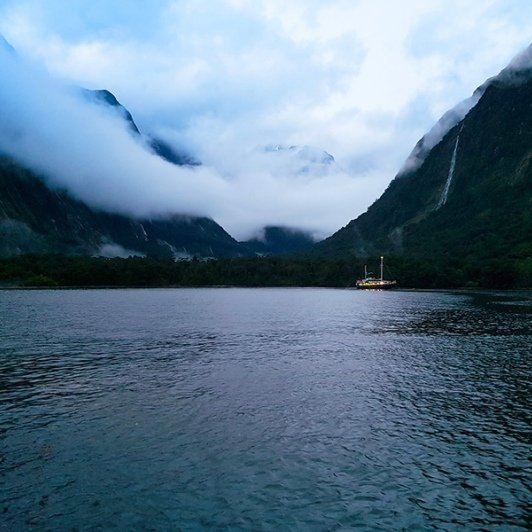Overnight Boat at Milford Sound