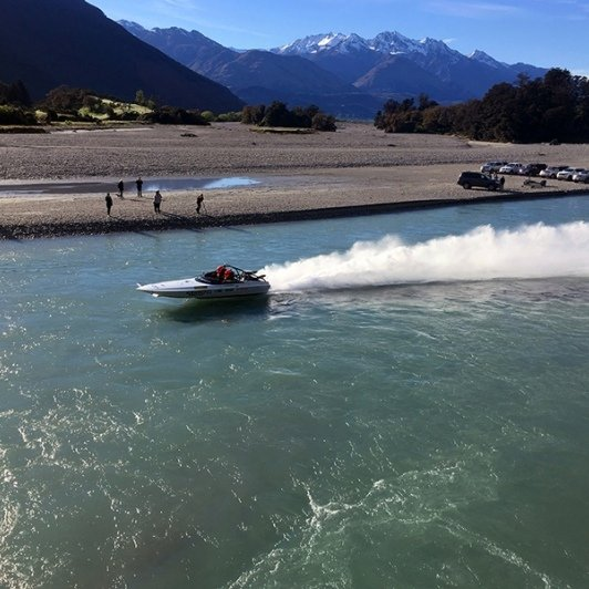 Jetboat racing on the Dart River