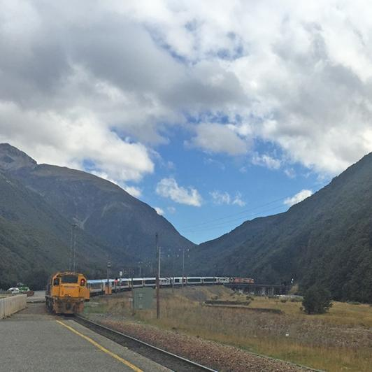 Riding the TranzAlpine Train to Arthurs Pass