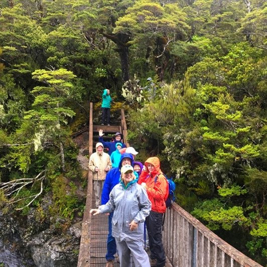 The group gets to know one another and the New Zealand bush and pristine waters of Arthurs Pass National Park