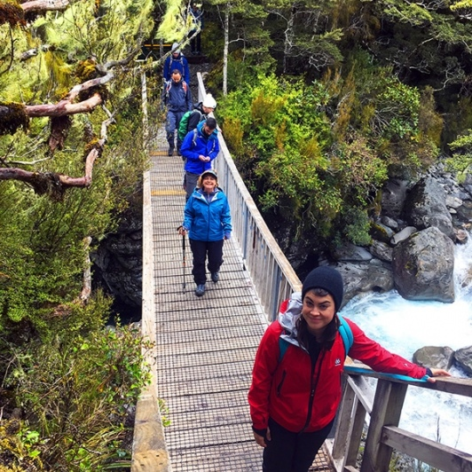 Hikers at Arthurs Pass National Park