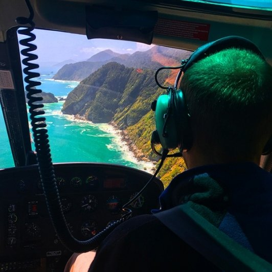 breathtaking views as we helicopter through Milford Sound!