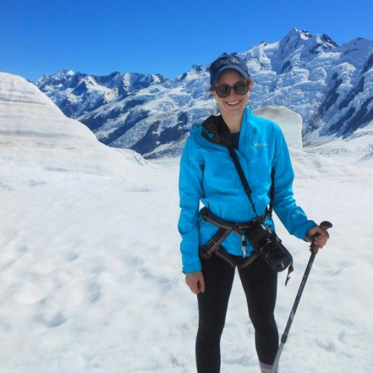 All snowshoed up on the Tasman Glacier!