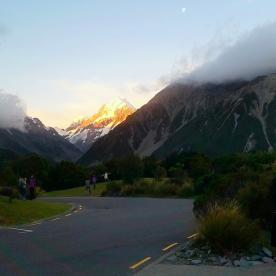 Breakfast with a view! the Hermitage Mt Cook