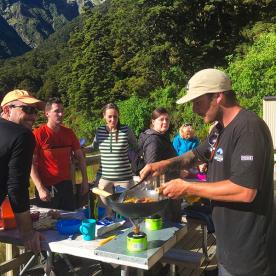 Chef Dave cooking up a storm at  Siberia Valley Hut