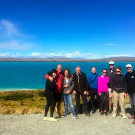 Our walkers at Lake Pukaki viewing spot