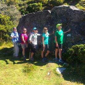 Our 5 ladies 'rocking it' on the Hooker Valley Track