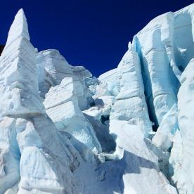 Incredible ice formations on the Tasman Glacier