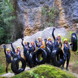 group at nile river caves new zealand