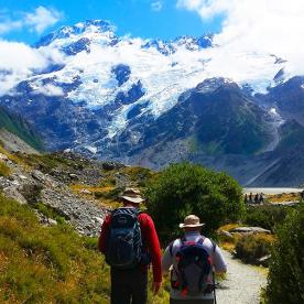 Walking in the Mount Cook National Park
