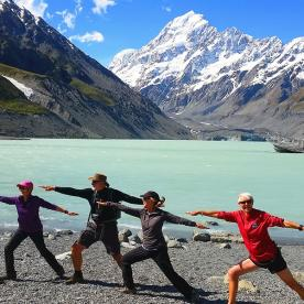 Yoga at Aoraki Mount Cook National Park