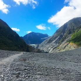Heading up to Fox Glacier