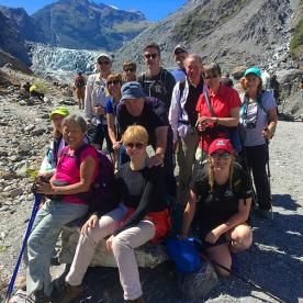 Pausing for a well earned group shot at Fox Glacier