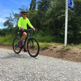 On the bike trails near Queenstown