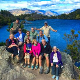 The group at Mou Waho Island Nature Reserve in the middle of Lake Wanaka