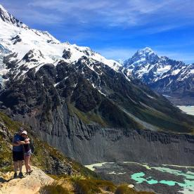 Stunning views over Aoraki Mount Cook National Park
