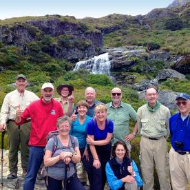 nz trails team at routeburn track falls new zealand