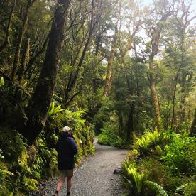 Walking the beautiful Milford Track. It's world famous for a reason.