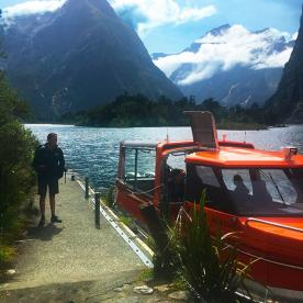 All aboard at the Milford Track trail head