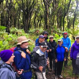 A few laughs with the local Hollyford Guide on the walk out to Long Reef