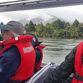 Jetboat on the Hollyford River