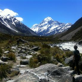 Perfect views up the Hooker Valley