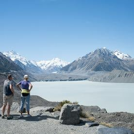 short south tasman lake mt cook