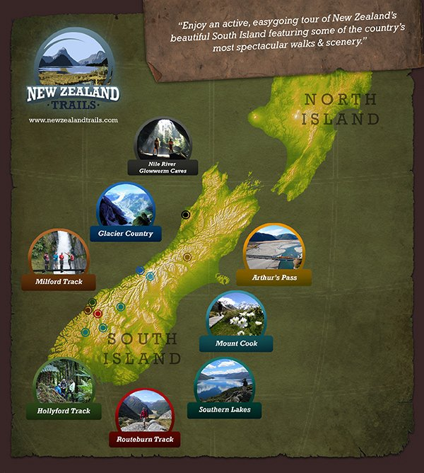 New Zealand Must See Map  Deboomfotografie
