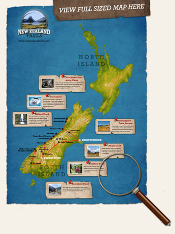 Link to Larger New Zealand Trails Tour Map