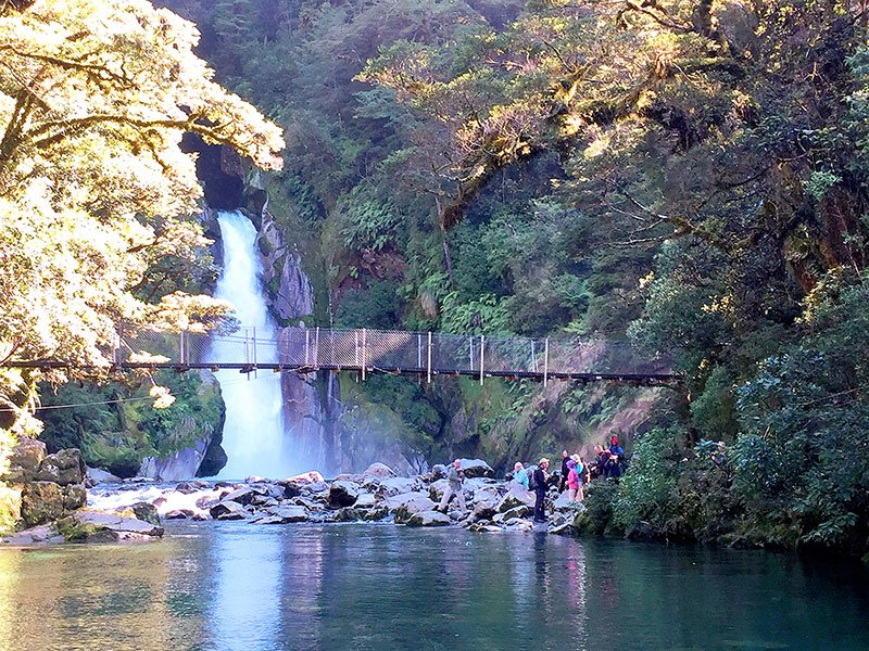 Best Walks New Zealand Hikers At Ord Track Giants Gate Waterfall